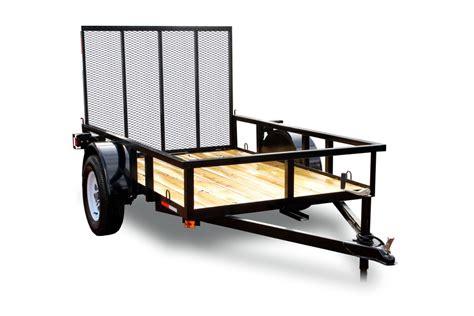 5 x8 single axle utility