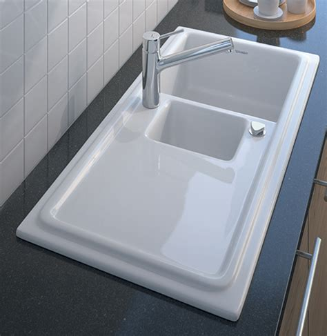kitchen sink ceramic built in ceramic kitchen sink cassia by duravit designer