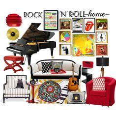 quot rock n roll home decor quot by crystal85 on polyvore