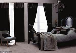 dark curtains bedroom kylie minogue turns her hand to interior design with new