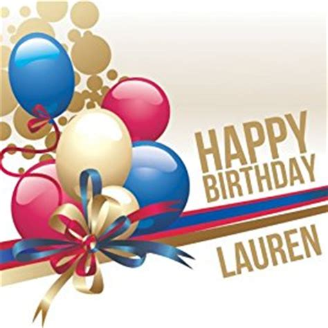 happy birthday mp3 download with name amazon com happy birthday lauren the happy kids band