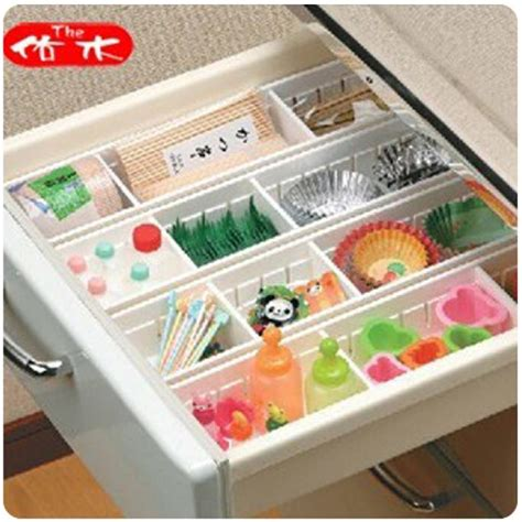 lade da lavoro 4pcs expandable grid drawer divider organizer tray