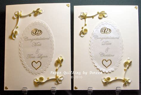 Wedding Cards by Creative Paper Quilling By Doreen Wedding Season Means