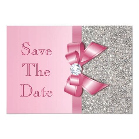 save the date templates for baby shower personalized pink save the date invitations