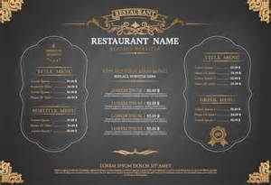 gray style restaurant menu design vector 01 vector cover