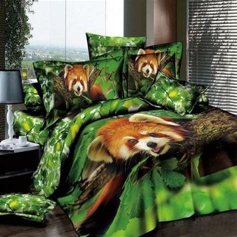 jungle bedding set 3d animal print panda green jungle bedding sets size 100 cotton pillowcase duvet