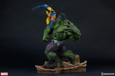 imagenes de wolverine en 3d marvel hulk and wolverine maquette by sideshow