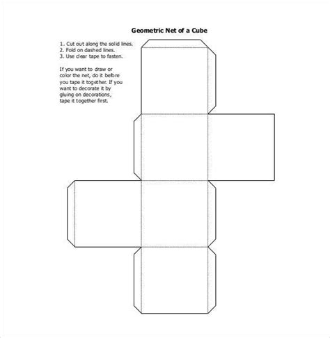 net pattern of cube paper cube template 18 free word pdf documents free