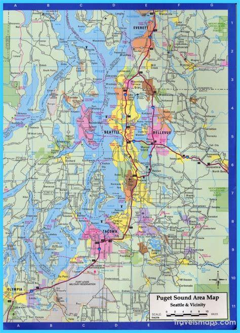 seattle map directions map of seattle washington travelsmaps