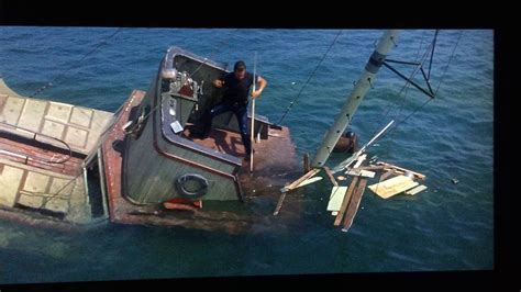 jaws boat death scene jaws movie scene quint is devoured and shark is killed