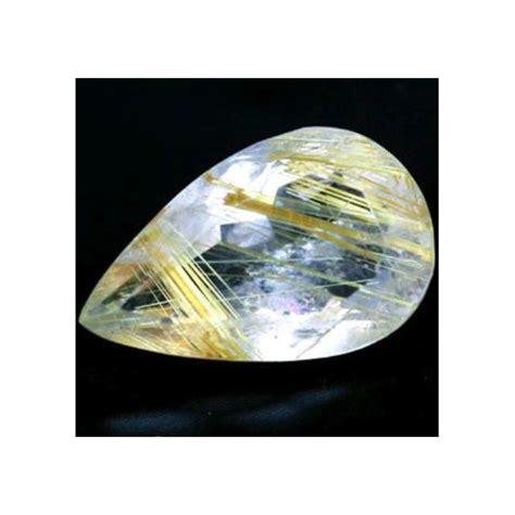 4 66 ct genuine golden rutilated quartz gemstone