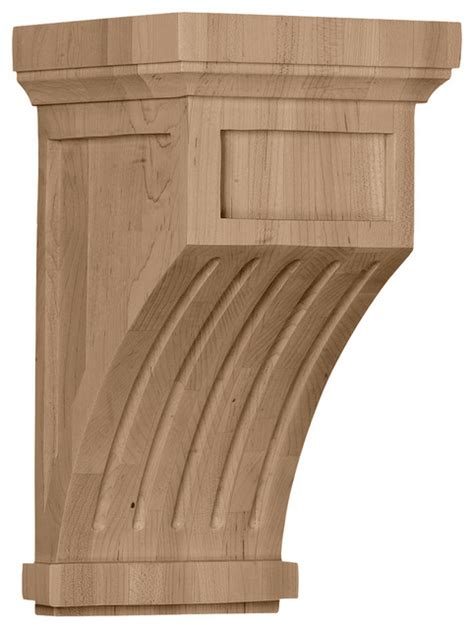 Modern Corbel 7 quot w x 7 1 2 quot d x 13 quot h fluted corbel modern corbels by burroughs hardwoods inc