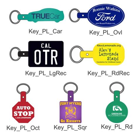 key tag template plastic key tag