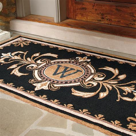 Huntington Monogrammed Entry Mat Frontgate Outdoor Entry Rugs