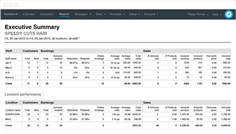 sle executive summary for a report manage your business like a timely booking software