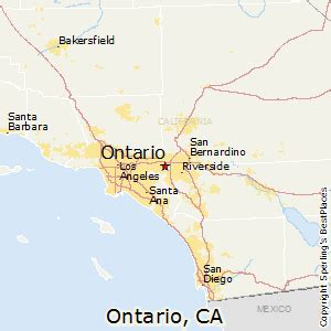 map ontario california best places to live in ontario california