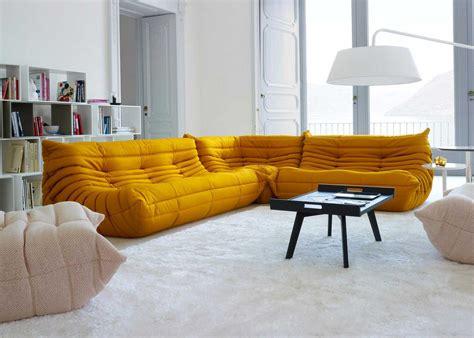 togo sofa by ligne roset ligne roset sofa togo orange microfibre togo sofa set by