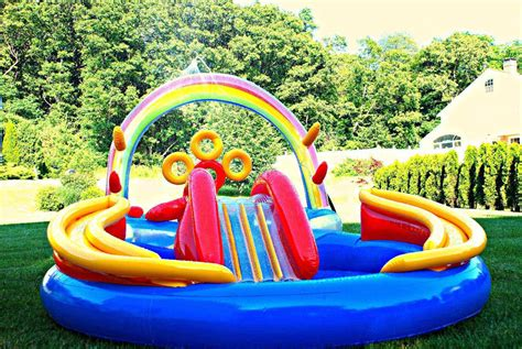backyard inflatable pools some info about backyard pool slides backyard design ideas