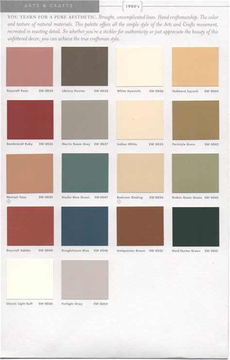 paint color schemes historic paint colors pt 1 como bungalow