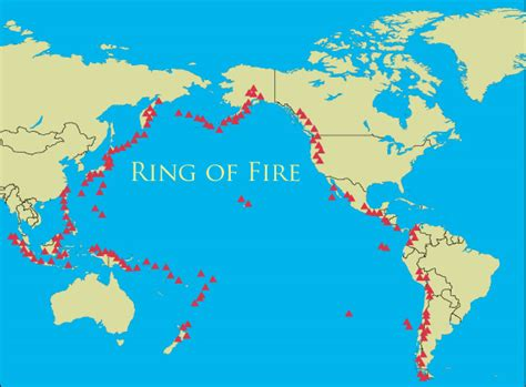 ring of fire mp active volcanoes map