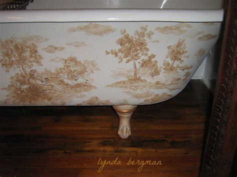 painted bathtubs lynda bergman decorative artisan hand painted quot toile