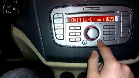 ford audio 6000 cd bluetooth kaydı silme