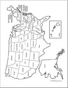 labeled united states map coloring page clip united states map coloring page labeled abcteach