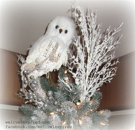 classy christmas decor my snowy owl tree topper