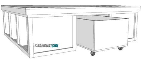 woodwork diy storage platform bed plans  plans