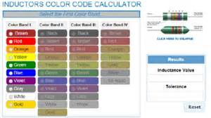 inductor color code calculator inductors color code calculator ip e color codes and colors