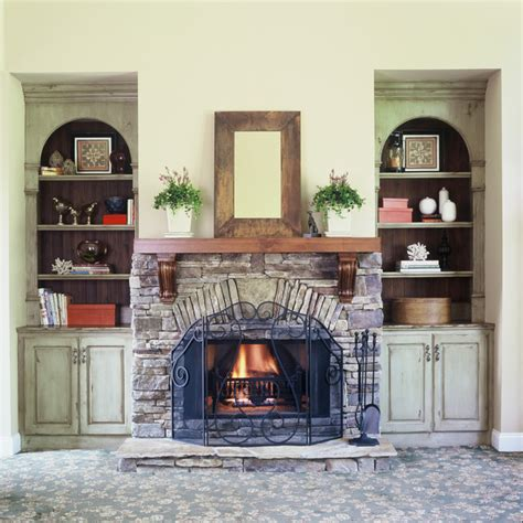 Family Room Cabinets by Custom Painted Cabinets Rustic Family Room Atlanta