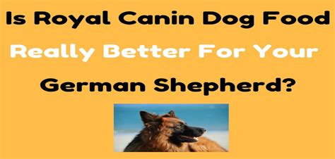 do puppies really need puppy food do i need breed specific food like royal canin for my german shepherd