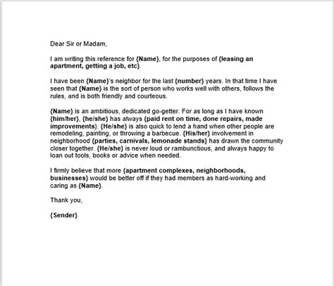 personal letter of recommendation 38 free sle personal character reference letters ms 1535