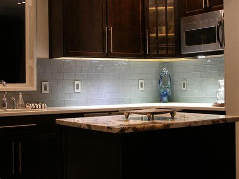 kitchen with glass tile backsplash vapor glass subway tile modern kitchen island wooden