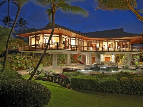 beachfront home plans oceanfront residence in hawaii displaying a creative