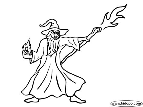Wizard Coloring Pages Wizard 5 Coloring Page by Wizard Coloring Pages