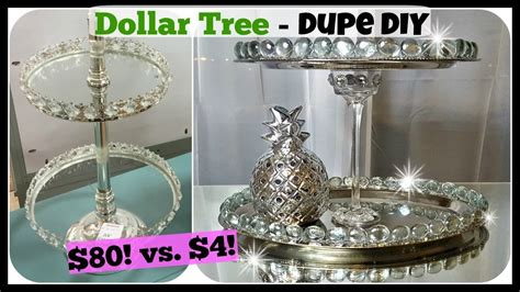 dollar tree diy home decor dollar tree diy home decor dupe 2 tiered tray stand glam