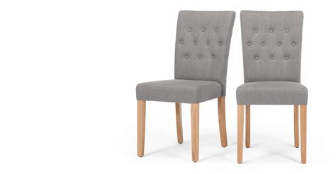 Made Dining Chairs 2x Flynn Dining Chairs In Graphite Grey Made