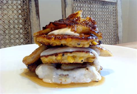 Banana Roasted Corn roast banana bacon maple syrup sweet corn fritters