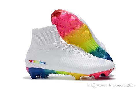 Soccer Specs Original 2 white rainbow original soccer cleats mercurial superfly v sx neymar soccer shoes top quality