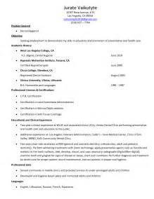 Dental Hygienist Resume Exle by Resume Sle Dental Hygienist Resume Sle Free Dental Hygienist Resume Objective Free