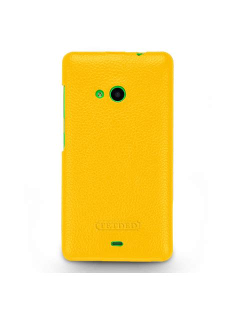 Lc 535 Yellow tetded premium leather for microsoft lumia 535 535