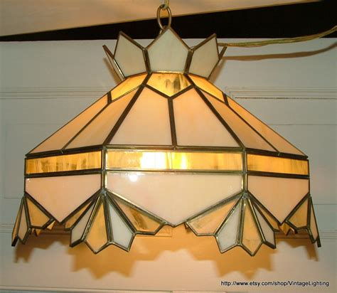 stained glass hanging light fixture vintage lighting fixture hanging stained glass light ceiling