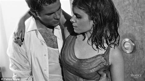 will siting in steamy bathroom loosen my box braids kate mara takes a steamy shower with james marsden for new