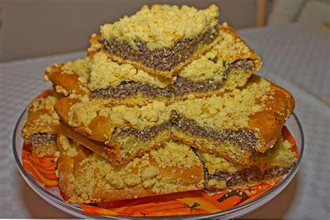 hefeteig kuchen schlesischer mohn streusel hefeteig kuchen rezept
