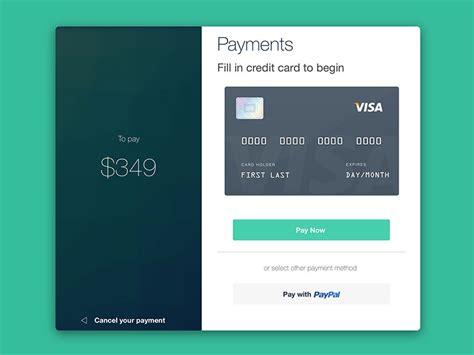 Material Design Credit Card Form