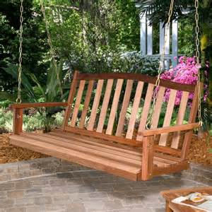 patio swing bench wood porch swing bench outdoor patio deck yard hanging