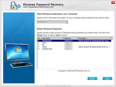 windows vista business password reset disk download windows password recovery professional 5 2 free download