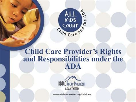 child care provider s rights and responsibilities the americans