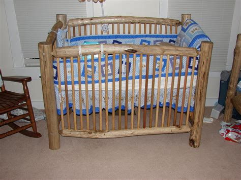 Handmade Cribs - unique rustic crafted log baby crib by krshomefurnishings